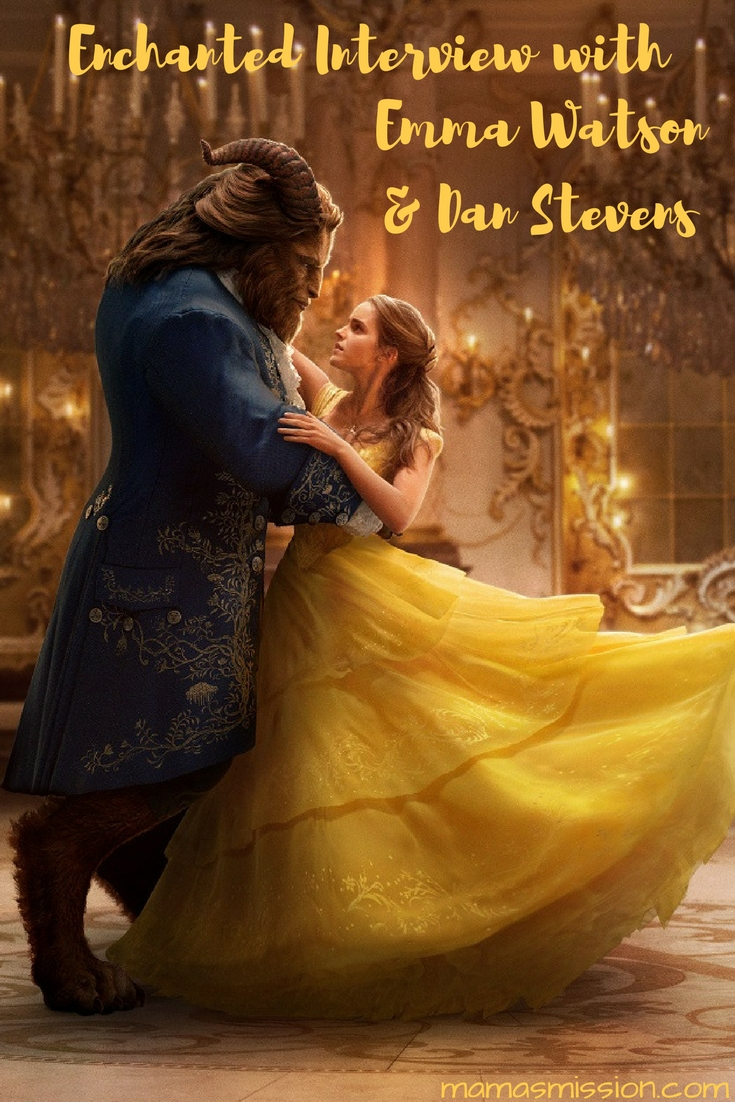 Get behind the scenes of Disney's newest live-action film Beauty and the Beast. My enchanted interview with Emma Watson and Dan Stevens was unforgettable!
