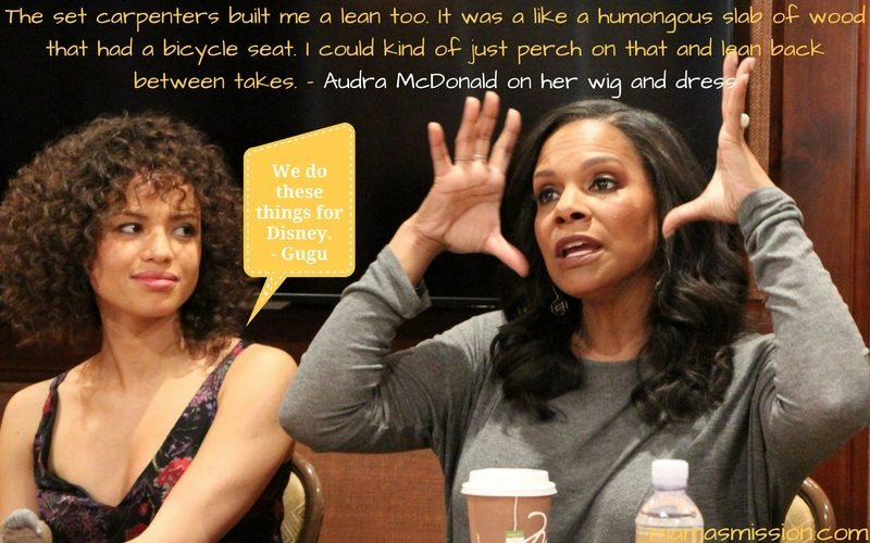 Get behind the scenes of Disney's newest live-action film Beauty and the Beast. My magical interview with Audra McDonald and Gugu Mbatha-Raw was incredible!