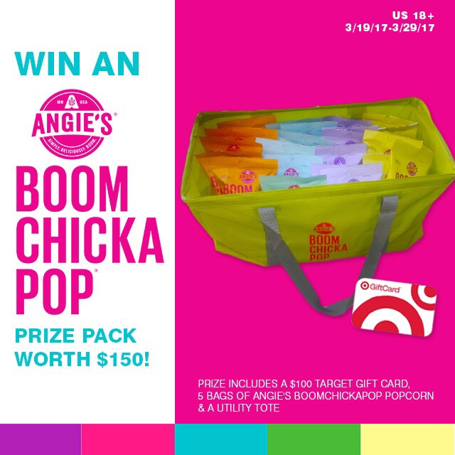 Enter to win a $100 Target Gift Card and BOOMCHICKAPOP bundle so that you can try all five of the new flavors of your favorite popcorn!