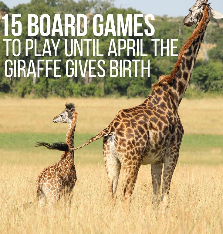 It's been nearly 3 weeks and everyone is wondering how much longer until April the Giraffe gives birth. Here's 15 board games to play until she does!