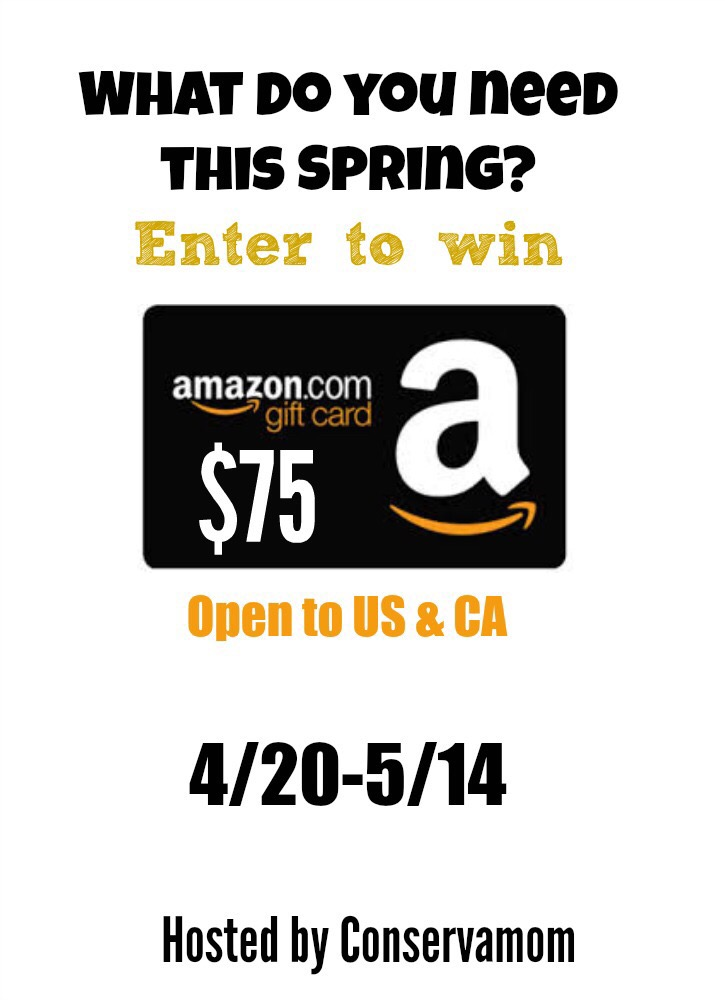 Enter to win the $75 Amazon Gift Card giveaway for your chance to enjoy a little extra splurge on yourself this spring! What will you buy if you win?