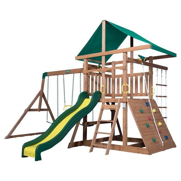 Looking to expand the play area in your backyard? Enter to win the Mount McKinley Wooden Swing Set giveaway from Backyard Discovery for a summer of fun!