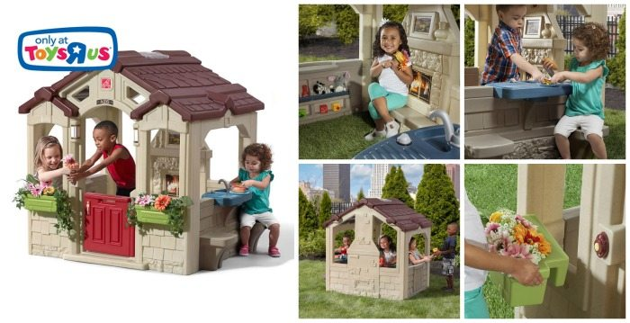 How cute is this new Step2 Charming Cottage Playhouse? Enter to win one to bring home for your little ones to play with for extra summer fun!