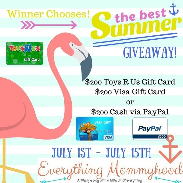 It's my birthday month and I want to celebrate it with you! One lucky reader will have the chance to win the $200 best summer ever cash giveaway!