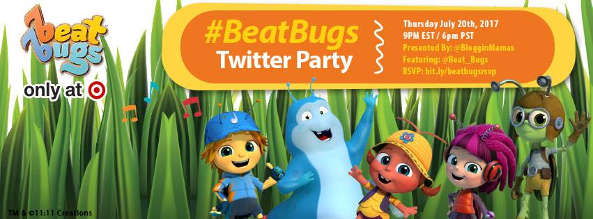 Get moving and grooving with the Beat Bugs! Join the Beat Bugs Twitter Party using #BeatBugs to tweet/dance your night away 7/20 @ 9p EST RSVP to win prizes