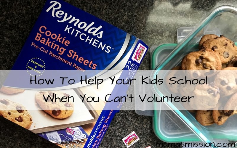Mom guilt is real. But it doesn't have to be! Learn how to help your kids school when you can't volunteer your time but want to lend a helping hand.