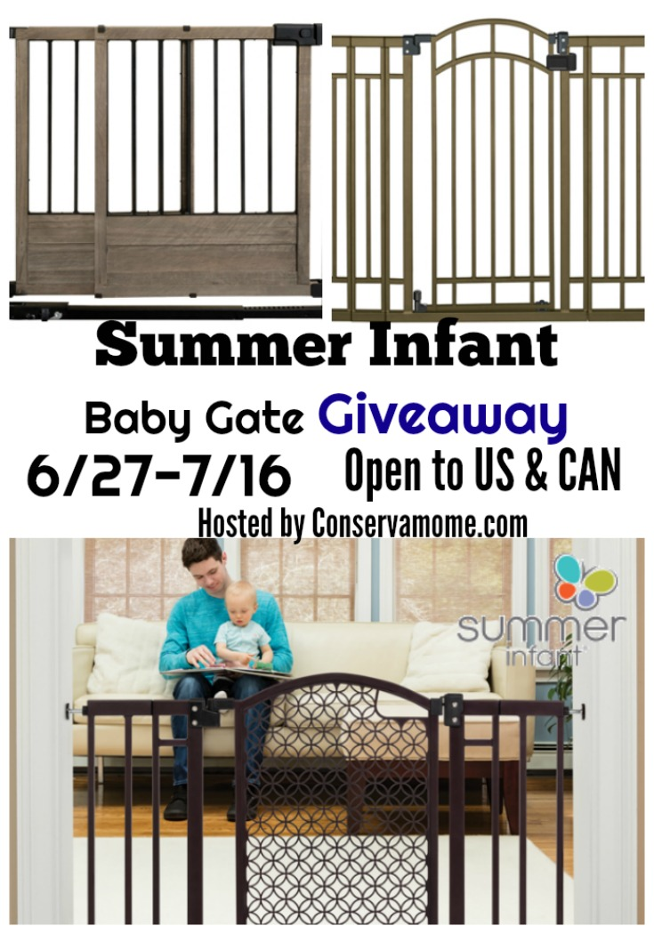 No one said being a mom is easy - but helping to keep your baby safe at home can be! Enter to win a Summer Infant Baby Gate for added protection at home!