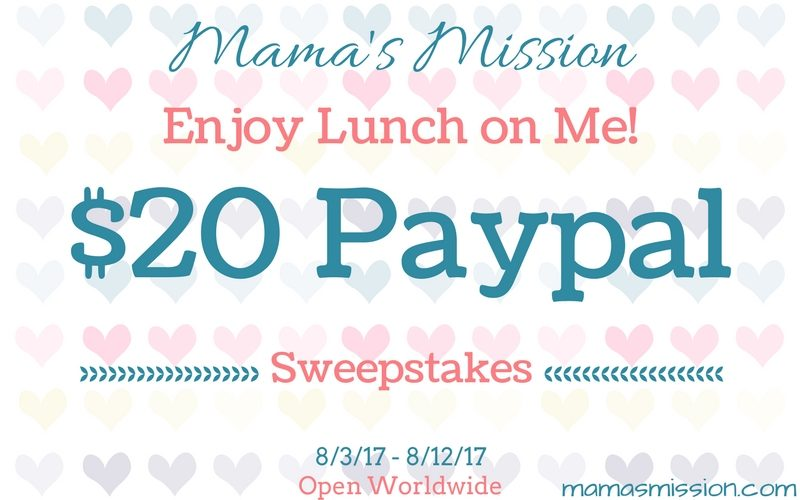 As a thank you to my readers and those who have supported me over the years, enter to win the $20 PayPal Cash Giveaway and enjoy lunch on me!