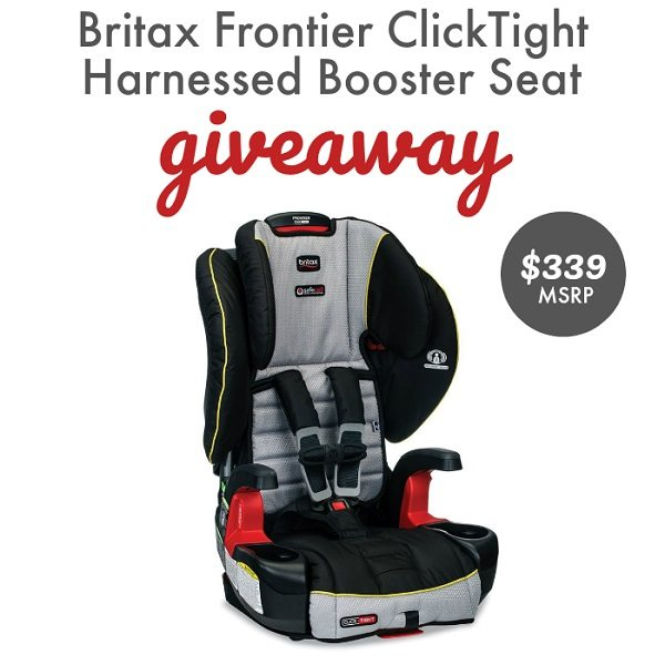 Enter to win the Britax Frontier ClickTight Booster Seat giveaway and make car safety a priority for your little ones today and forever!