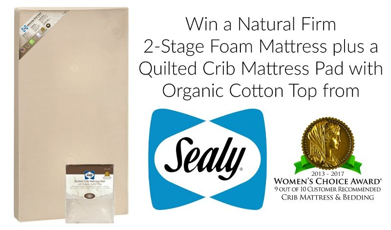Is your little one ready to transition to a toddler bed? Check out the Sealy Baby Crib Mattress and Pad giveaway and enter for your chance to win one!