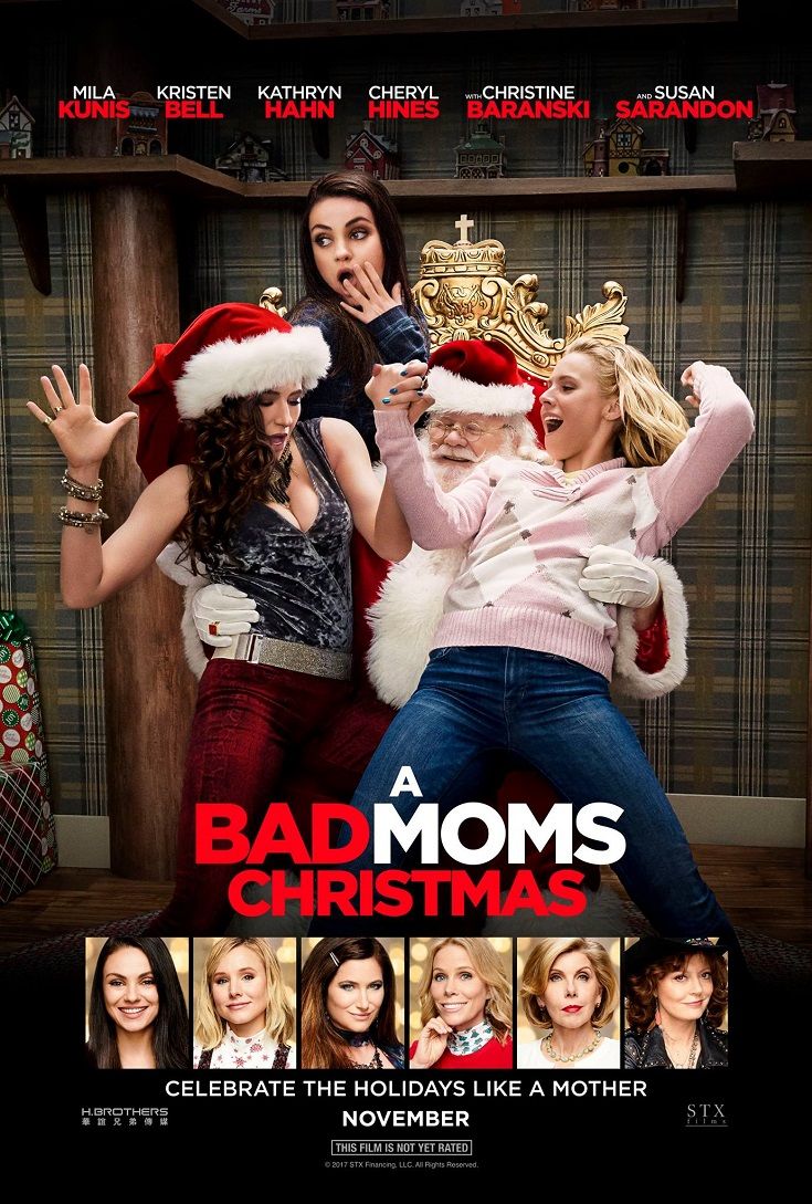 Enjoy a Bad Moms Night Out and grab your free Bad Moms Christmas Advance Screening passes. Party on with your Bad Moms friends for a night out.