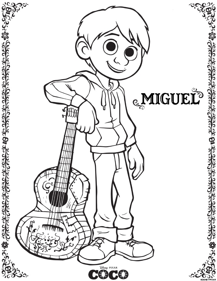 - Disney Pixar COCO Coloring Pages And Activity Sheets – Free Printables