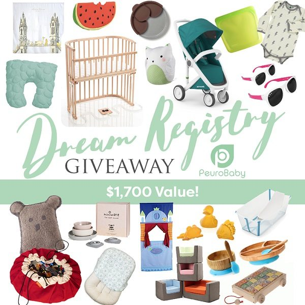 The Dream Registry Giveaway is here! Enter to win 20 of the top gifts for baby all made with quality materials, design, and safety. $1700 in value!