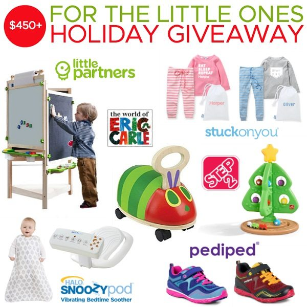 With the holidays just around the corner, we are here to make your gift giving a little easier with the For The Little Ones Holiday Giveaway!