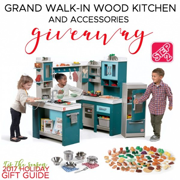 Does your little chef love helping out in the kitchen? Be sure to enter the Step2 Grand Walk-In Wood Kitchen Giveaway for a kitchen they can call their own!