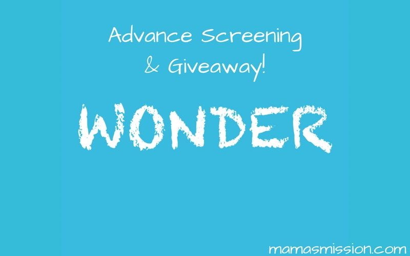 Get your free WONDER advance screening passes and see it before anyone else! Also enter to win a special prize pack giveaway, includes VIP seating.
