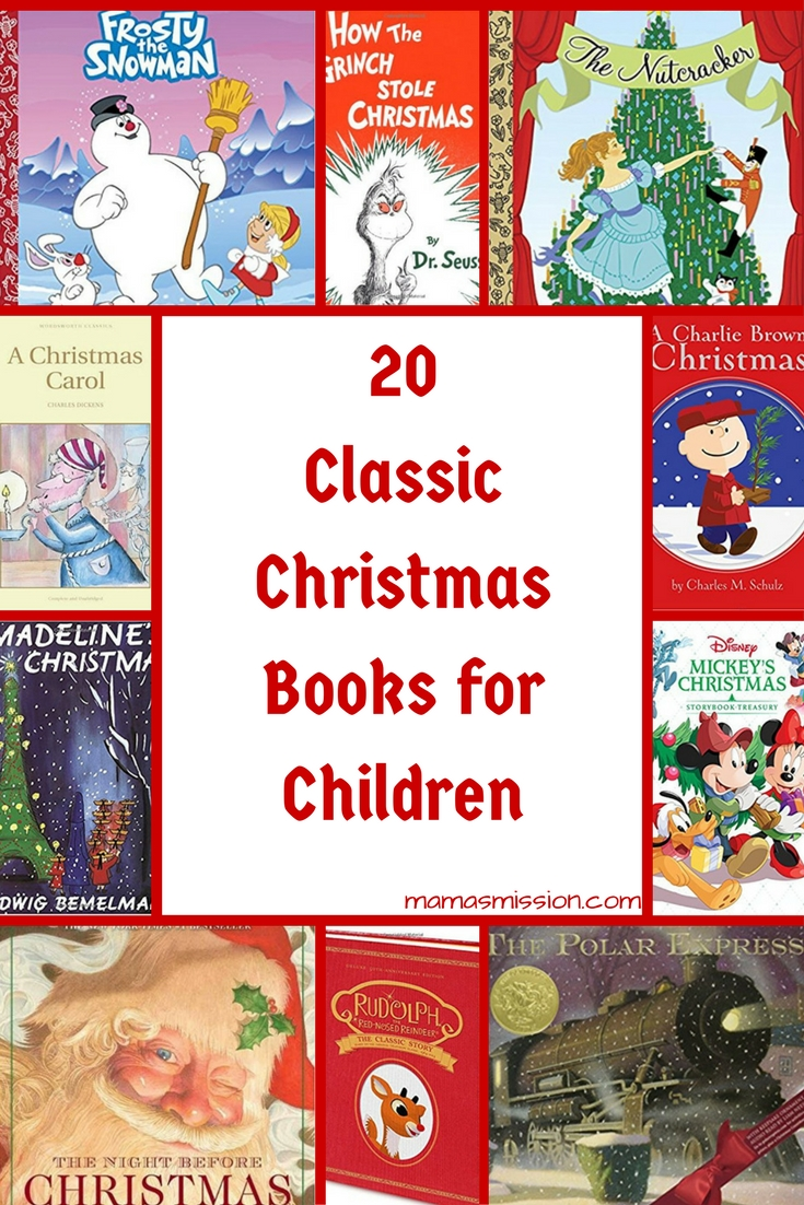 Do you know the story of Christmas? Let your imagination run wild with these fun 20 Classic Christmas books for children. Place a book in their stocking!