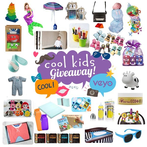 Enter to win 28 fantastic cool kids giveaway prizes plus learn more about how to enter the secret $500 Visa Gift Card giveaway too!