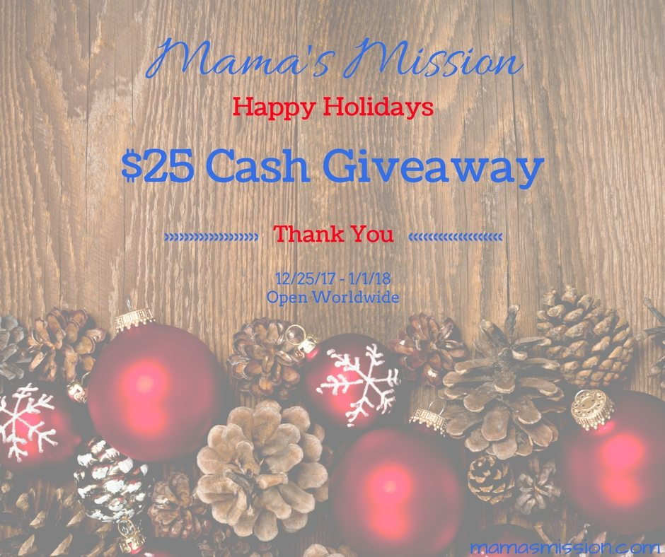 Happy Holidays $25 Cash Giveaway Just To Say Thanks