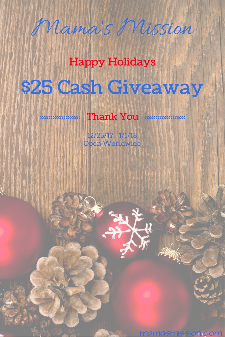Without you there would be no me! I thank you from the bottom of my heart for visiting and commenting and supporting me. Enter to win the Happy Holidays $25 Cash Giveaway for a chance to win as my way of saying thanks.