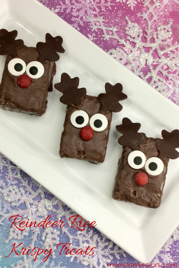 Treat the kids to a delicious fun special holiday treat that they can help you make! This Reindeer Rice Krispy Treats recipe is fun and easy to make.