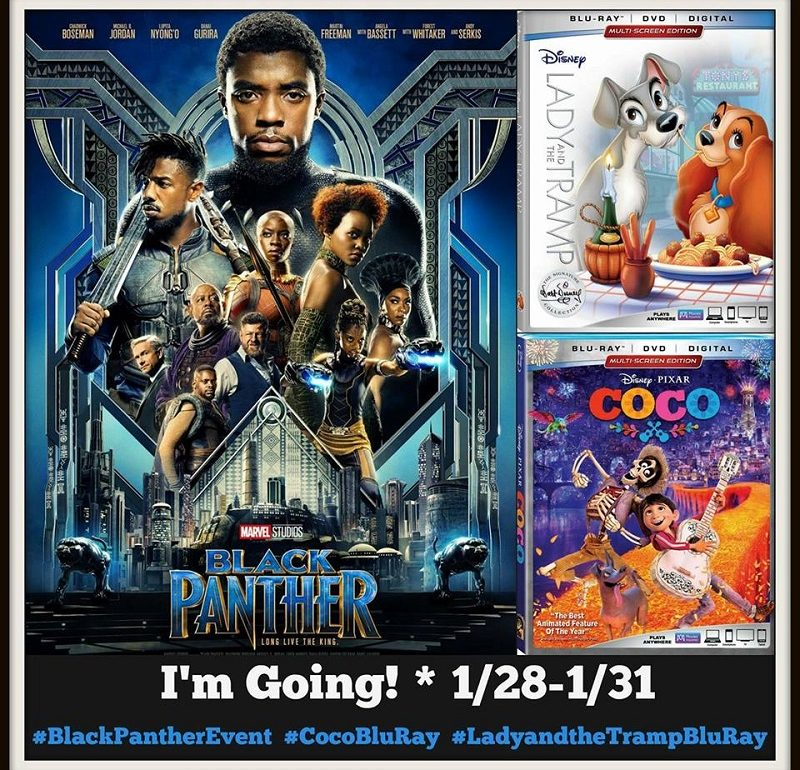 What an amazing way to start off the year with a trip back to LA for the Black Panther Red Carpet Premiere! I can't wait to share all of my adventures and interviews with you. Follow along as I get the low down on Black Panther and the DVD releases of COCO and Lady and the Tramp.
