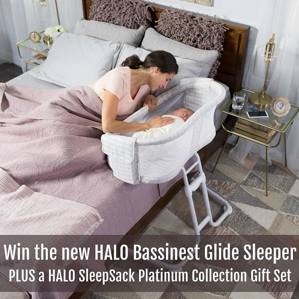 New baby keeping you up at night? Wish you could keep them close AND safe nearby? Learn more and enter to win the HALO Bassinest Glide Sleeper giveaway, the safe and close way to keep baby near you.