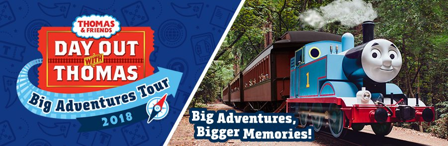 All Aboard! Join Thomas and Friends for a Day Out with Thomas in Miami during the Big Adventures Tour 2018. Enter to win tickets and learn more about the Big Adventures Tour throughout the US. Join the fun in Miami on March 3rd, 4th, 10th and 11th!
