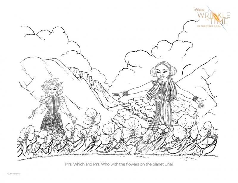 Celebrate the release of A Wrinkle In Time with these fun and free printable A Wrinkle In Time coloring pages and activity sheets.