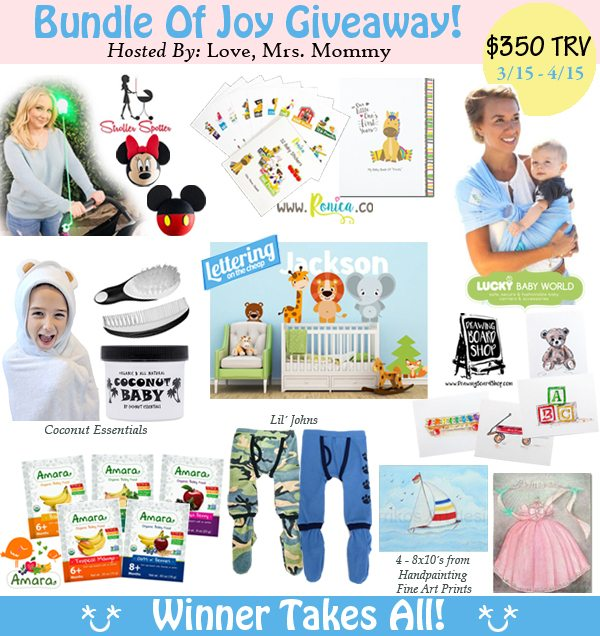 Pregnant or know someone that could use some great baby gear? Enter to win the $350 Baby Bundle Of Joy giveaway which includes items from 9 great sponsors!