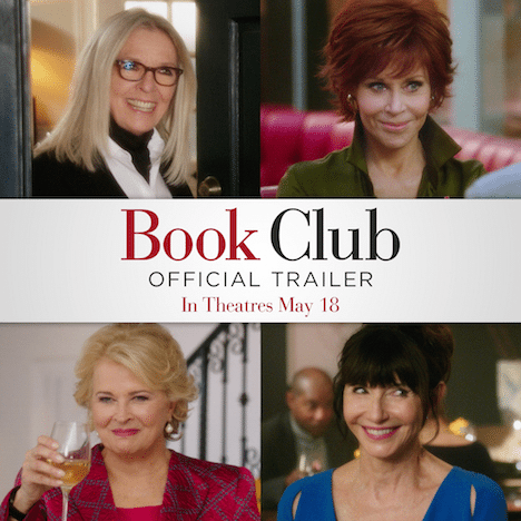 If you've ever wanted to join a book club now is your chance! Check out the new official Book Club movie trailer. Four women get together to read the very popular Fifty Shades of Grey and embark on the most romantic years of their lives. The next chapter is always the best chapter.