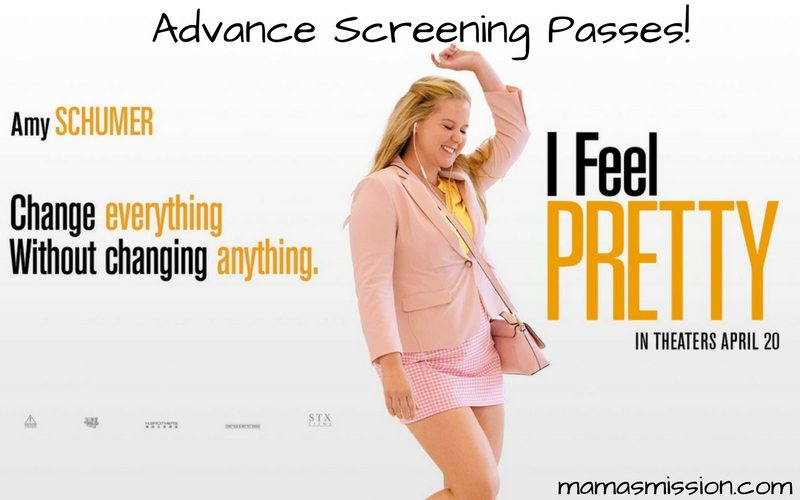 Need a Mama's Night Out? Grab your girls and these I Feel Pretty Advance Screening passes and go see I Feel Pretty before anyone else! I invite you to join me for the I Feel Pretty Advance Screening taking place on Tuesday, April 3rd at 7pm.