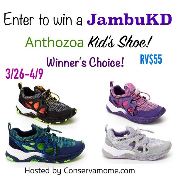 You'll never have to say no to puddles again! With the JambuKD Anthozoa kids shoe your little ones can have a blast everywhere they go. Simply throw them in the washing machine for easy cleaning. Learn more and enter to win the JambuKD Anthozoa kids shoe giveaway!