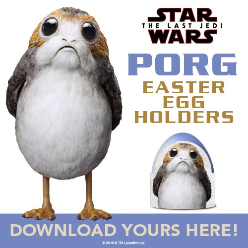 Easter is just around the corner. What better way to celebrate than with some adorable Easter egg holders? Only one thing actually, Porg Easter egg holders! Download these adorable Porg Easter Egg holders to make your Easter egg hunt complete!