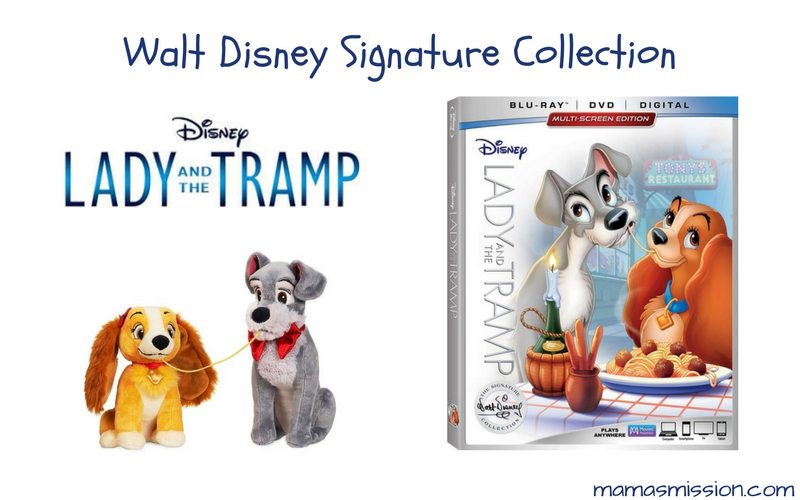 Your favorite classic is now available as part of the Walt Disney Signature Collection Lady and the Tramp! This story was a favorite of mine, one that I read over and over again. Now is your chance to share your favorite with your little ones!