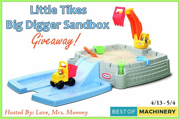 Summer is around the corner and the fun is just beginning. Get your kids outdoor for some super summer fun with the Little Tikes Big Digger Sandbox!