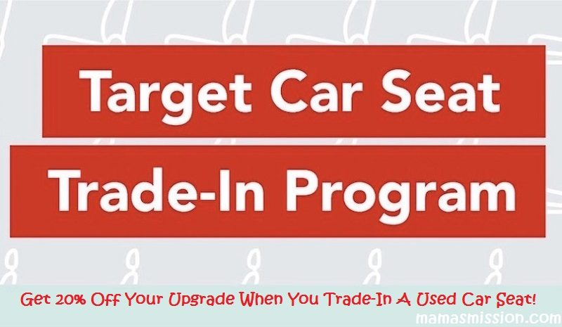 Looking to upgrade your child's car seat? If your little one is outgrowing their infant seat or car seat, or perhaps you need an extra car seat, booster seat, etc., now is the time to head out and get your little one a brand new car seat during the Target Car Seat Trade-In event and save 20% on your next purchase!