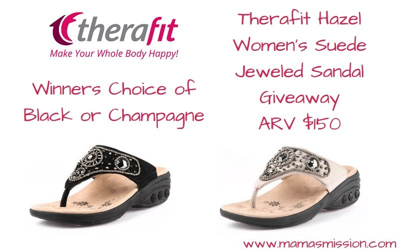 In Florida it's sandal weather all year round. Since Spring is finally here, everyone can start enjoying the sandal weather no matter where they live. I've joined a group of bloggers to bring you the chance to walk through Spring in comfort and style with the Therafit Hazel Women's Suede Jeweled Sandal giveaway!