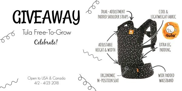 One of the best gifts I ever received during my baby shower was a baby carrier. The convenience of a baby carrier is immeasurable. There are so many benefits to them. Which is why I'd love to help you celebrate the baby coming into your life with this beautiful Tula Free-To-Grow Baby Carrier giveaway in the beautiful Celebrate pattern!