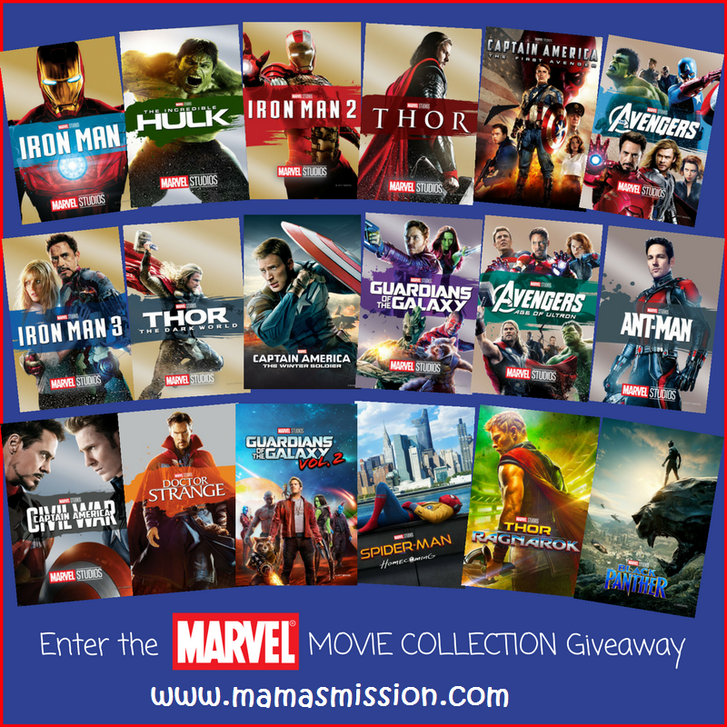 enter to win the ultimate marvel movie collection giveaway