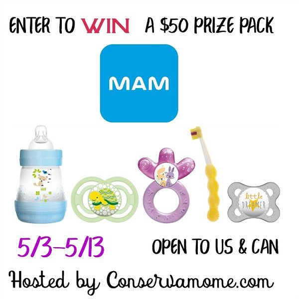 MAM is celebrating moms and their babies with a special $50 MAM prize pack giveaway! Show MAM how you mom to win great prizes and more.
