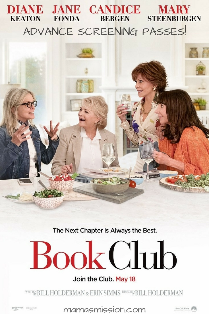 Need a day out? Grab your Mama, or your best friend, or your book club, and head on out for a movie like no other! Book Club stars four incredible women that decide to start a book club, reading none other than Fifty Shades of Grey. Grab yourself these Book Club Advance Screening Passes and enjoy a movie on me!