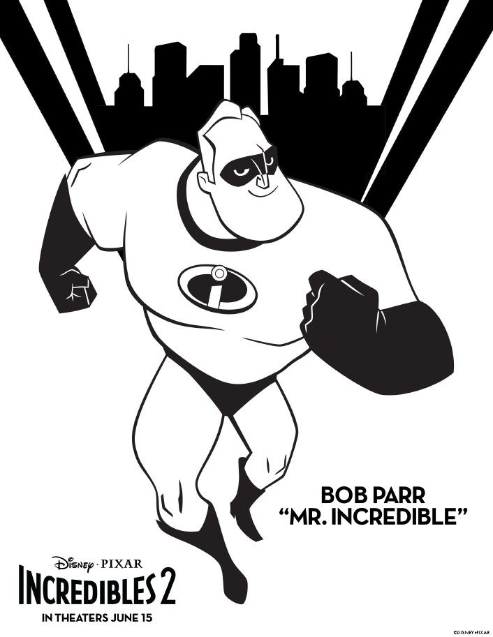 Disney Pixar Incredibles 2 is almost here! It's been a long time coming for fans of the original Incredibles movie and to celebrate I am sharing these free printable Disney Pixar Incredibles 2 coloring pages. Download these free printables of Mr. Incredible and his family!