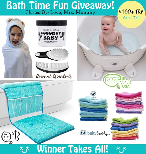Got a little one in the house? You will appreciate all these amazing items that every mom needs to make life easier in the Bath Time Fun Giveaway. Enter below for your chance to win all the items listed to make bath time fun for both of you!