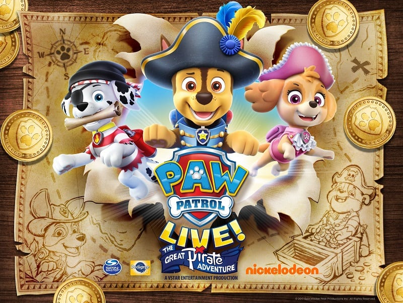 Have a PAWtastic time at the PAW Patrol Live in South Florida show! Enter to win 4 tickets to the show and help the pups find the secret pirate treasure.