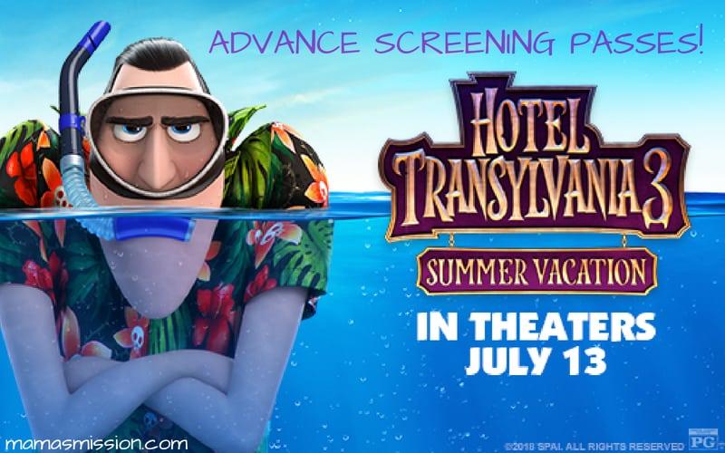 Hotel Transylvania 3 Summer Vacation Advance Screening Passes