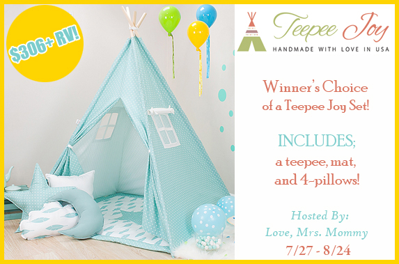 Keep the little ones busy on a rainy day with a cozy corner of their own! Learn more about and enter to win the Teepee Joy Set giveaway.