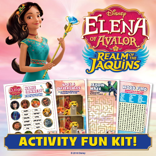 Download ELENA OF AVALOR Realm of the Jaquins activity pages