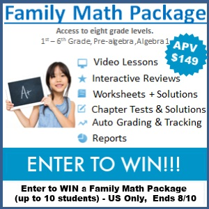 Are you looking to increase your child's confidence in the subject area of Math? Enter to win the Family Math Package giveaway from A+ TutorSoft Inc.