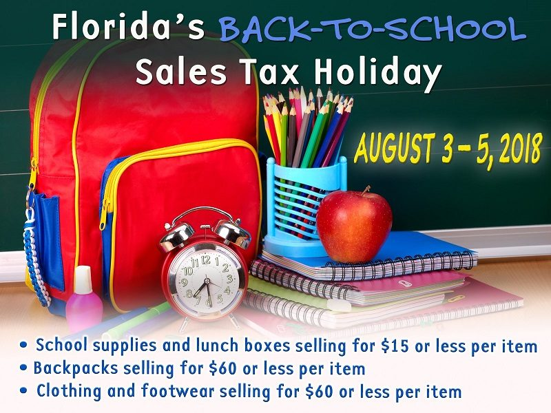The 2018 Florida Tax Free Weekend is happening August 3rd through August 5th. Now is the time to save on school supplies and back to school clothes!